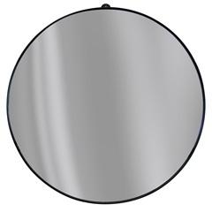 Espelho Redondo com Borda em Metal 40cm Preto - Epaglass