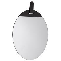 Espelho Redondo em Metal 40x40cm Preto - Mart