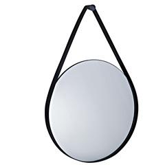 Espelho Redondo em Metal 57,5x40cm Preto - Mart