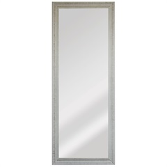 Espelho Retangular Moldura de Madeira Cartagena Branco Provençal 151x56cm