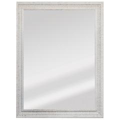 Espelho Retangular Moldura de Madeira Cartagena Branco Provençal 82x62cm - Espelhos Leão