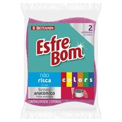 Esponja Não Risca Esfrebom Colors com 2 Unidades - Bettanin