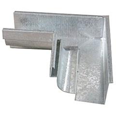 Esquadro Interno para Calha Moldura Galvanizado 28cm - Calha Forte