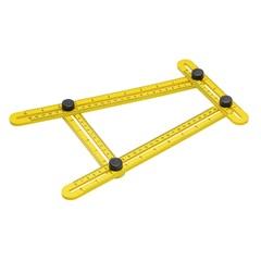 Esquadro Plástico Ajustável 2 Réguas Amarelo - Worker