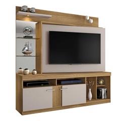 Estante Home para Tv 55'' Brasil Noronha E Off White 180x183cm - JCM Movelaria