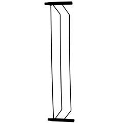 Extensor para Grade de Porta em Aço 15cm Preta - Alambre
