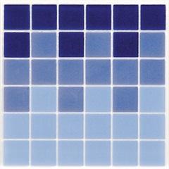 Faixa para Piscina Esmaltada Brilhante Borda Bold Esmalte Azul 15x15cm - Eliane