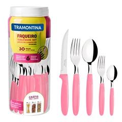 Faqueiro em Aço Inox Ipanema com 30 Peças Rosa - Tramontina