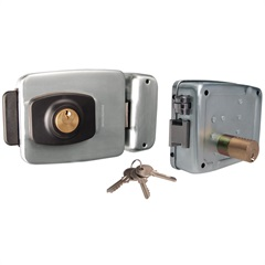 Fechadura de Sobrepor para Portão em Aço Reversível 4 em 1 Cromada - Protection