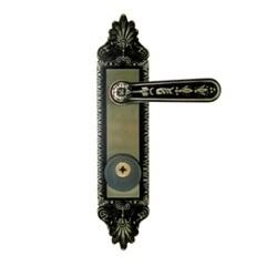 Fechadura Externa com Alavanca Colonial Tetra E Espelho Latonada - Aliança
