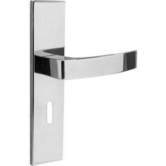Fechadura Interna com Espelho Quadratta Cromada - Aliança