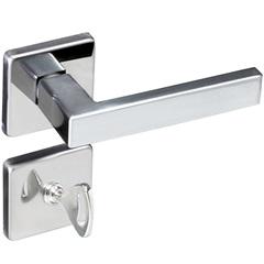 Fechadura para Banheiro com Roseta Quadrada Concept Cromada