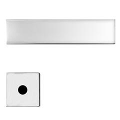 Fechadura para Banheiro com Roseta Quadrada Design Massima Cromada