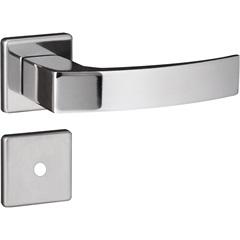 Fechadura para Banheiro com Roseta Quadratta Cromada - Aliança
