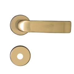 Fechadura para Banheiro Roseta Redonda Home Bronze Latonado - Aliança
