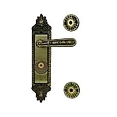 Fechadura Tetra Trio Fort Quadra 40mm 40100(Z-T) Zamac Latão Oxidado Ref. 54861 - Aliança