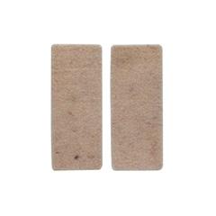 Feltro de Lã Retangular Autoadesivo 4x10cm Creme 2 Peças - Talentos