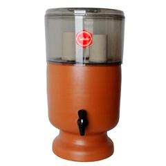 Filtro de Água em Acrílico E Barro Esterilizante Fumê 6 Litros - Salute