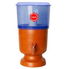 Filtro de Água Plus em Acrílico E Barro Azul 6 Litros - Salute