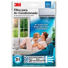 Filtro para Ar Condicionado com 2 Unidades Branco