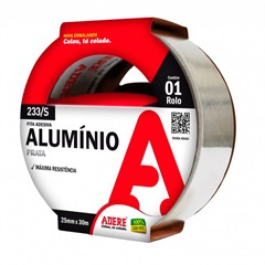 Fita Adesiva Aluminio 25mmx30m Adere - Adere