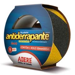 Fita Adesiva Antiderrapante Preta E Amarela 50mm com 5 Metros - Adere