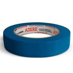 Fita Crepe para Pintura Imobiliária Azul 24mm com 50 Metros - Adere