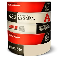 Fita Crepe para Uso Geral 24mm com 50 Metros - Adere
