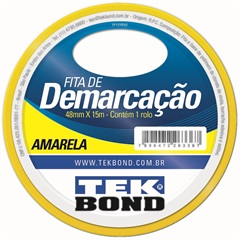 Fita de Demarcação 48mm com 15m Amarela - Tekbond