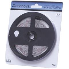 Fita de Led Flex 14,4w Bivolt 6500k Luz Branca com 5 Metros - Casanova