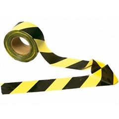 Fita de Sinalização Zebrada 70mm com 200 Metros Amarela E Preta - Dura Plus