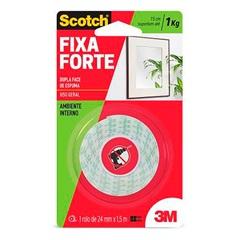 Fita Dupla Face Fixa Forte 113 24 Mm X 1,5 Metros - Scotch