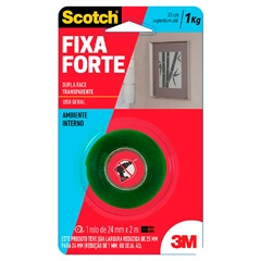 Fita Fixa Forte 25mm X2 Metros         - Scotch