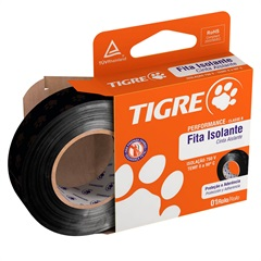 Fita Isolante Performance 19mm com 10 Metros Preta - Tigre