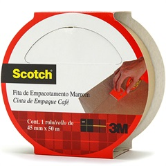 Fita para Empacotamento Hot Melt 45mm com 50m Marrom - Scotch