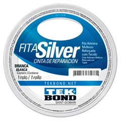 Fita Silver Tape 48mm com 5 Metros Branca - Tekbond