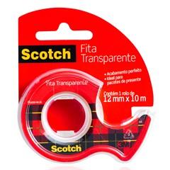 Fita Transparente 12 Mm X 10 Metros com Hand Dispenser - 3M