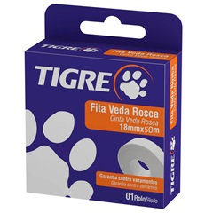 Fita Veda Rosca 18mm com 50 Metros Branca - Tigre