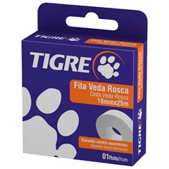 Fita Veda Rosca 18mmx25m Tigre - Tigre