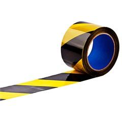 Fita Zebrada em Rolo 65mm com 200 Metros Amarela E Preta