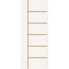 Folha de Porta de Giro Sólida Frisada Elegance 210x80cm  - Eucatex