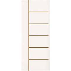 Folha de Porta de Giro Sólida Frisada Elegance 210x92cm  - Eucatex