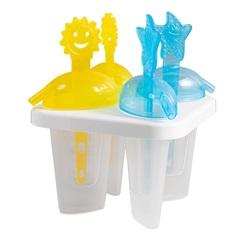 Forma para Picolé Snips com 4 Peças Amarela E Azul - Casa Etna