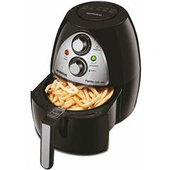 Fritadeira sem Óleo Air Fryer 1500w 220v Family 3,2 Litros com Painel em Inox Preta - Mondial