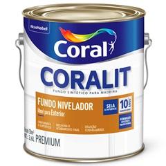 Fundo Nivelador Fosco para Madeira Coralit Branco 3,6 Litros