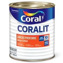 Fundo para Metais Coralit Zarcão Proferro Anticorrosivo 900ml - Coral