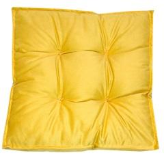 Futon Alto em Veludo 45x45cm Amarelo - Próxima Têxtil
