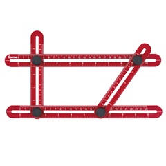Gabarito Angular Plástico Multifunção Vermelho E Preto - Cortag
