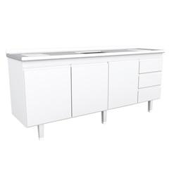 Gabinete Cozinha para Pia de 200cm Branco - Bonatto