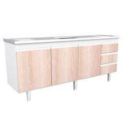Gabinete de Cozinha para Pia de 2,00 Metros Noce - Bonatto